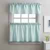 Curtainworks Solid Twill Tiers & Valance Set Aqua