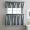 Curtainworks Solid Twill Tiers & Valance Set Grey