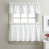 Curtainworks Solid Twill Tiers & Valance Set White