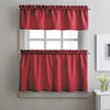 Curtainworks Solid Twill Tiers & Valance Set Red