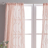 Peri Home Dixon Wave Window  Curtain Panel Blush