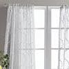 Peri Home Dixon Wave Window  Curtain Panel Grey