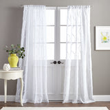 Peri Home Dixon Wave Window  Curtain Panel White