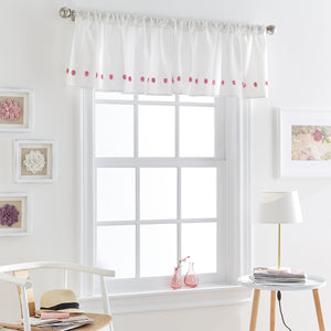Dream Factory Tufted Dot Valance