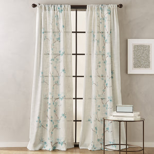 peri home michiko poletop window curtain panel aqua
