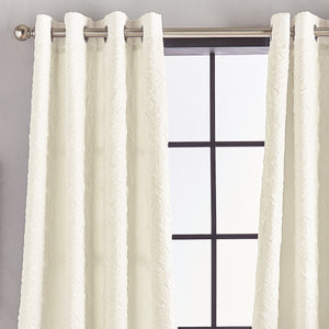 Calista Microsculpt Window Curtain Panel Ivory