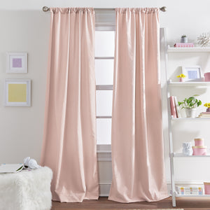 Butterflies Poletop Window Curtain Panel Blush