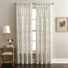 Lynette Poletop Window Curtain Panel Grey