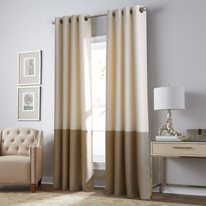 Curtainworks Kendall Grommet Window Curtain Panel Cream/Beige