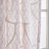 Peri Home Chenille Scallop Window Curtain Panel Blush