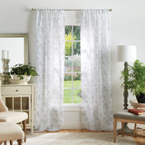 Martha Stewart Bellefield Floral Window Panel Linen