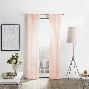 Martha Stewart Glacier Sheer Curtain Panel Blush