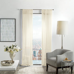 Martha Stewart Glacier Sheer Curtain Panel Ivory