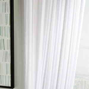 Martha Stewart Glacier Sheer Curtain Panel White