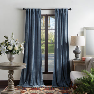 Martha Stewart Naples Chenille Curtain Panel Navy