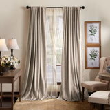 Martha Stewart Lucca Velvet Backtab Curtain Panel Linen