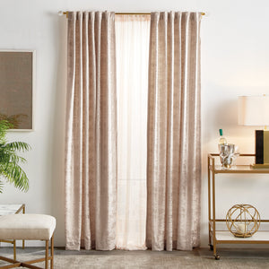 Martha Stewart Monroe Curtain Panel Blush