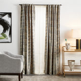 Martha Stewart Monroe Curtain Panel Silver