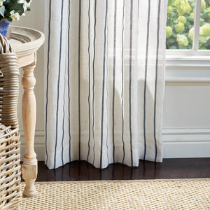 Martha Stewart Laguna Stripe Curtain Panel Navy