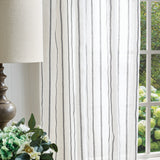 Martha Stewart Laguna Stripe Curtain Panel Grey