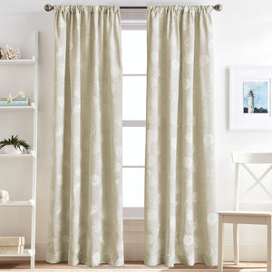Destinations Seashells Curtain Panel Pairs