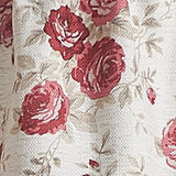 Curtainworks Antique Rose Valance and Tiers
