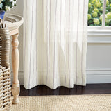 Martha Stewart Laguna Stripe Curtain Panel Mocha