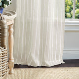 Martha Stewart Laguna Stripe Curtain Panel White