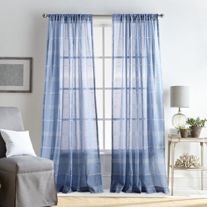 Martha Stewart Delicate Stripe Curtain Panel Pair