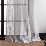Martha Stewart Hourglass Embroidery Curtain Panel