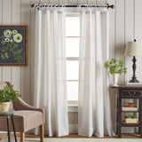 Martha Stewart Plaid Tie Top Curtain Panel
