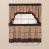 Curtainworks Grace Tier & Valance Separates Chocolate