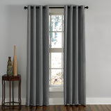 Curtainworks Lenox Window Curtain Panel Grey