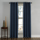 Curtainworks Lenox Window Curtain Panel Navy