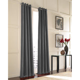 Curtainworks Messina Grommet Window Curtain Panel Grey