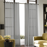 Curtainworks Soho Voile Grommet Window Curtain Panel Silver