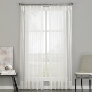 Curtainworks Soho Voile Pinch Pleat Window Curtain Panel Oyster