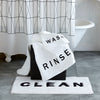 "DKNY Chatter Bath Rug ""Clean"""