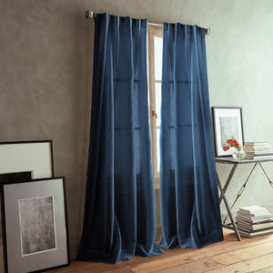 DKNY Paradox Backtab Window Curtain Panel Navy