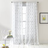 DKNY Ella Window Curtain Panel Grey