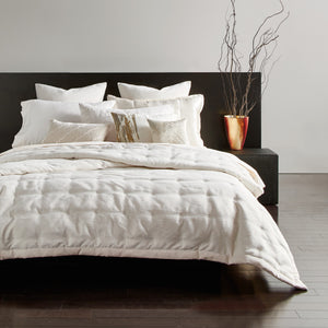 Donna Karan Radiance Quilt Collection Ivory