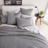 DKNY Speckled Jersey Quilt Grey