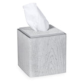 DKNY Grey Wood Accessories Tissue Box