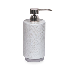 DKNY Grey Wood Accessories Soap Lotion Pump Dispenser