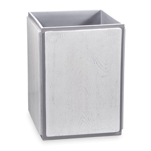 DKNY Grey Wood Accessories Waste Basket