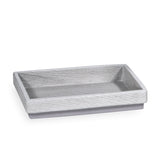 DKNY Grey Wood Accessories Soap Dish