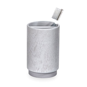 DKNY Grey Wood Accessories Toothbrush Holder