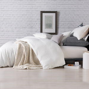 DKNY PURE Comfy Bedding Duvet Collection White