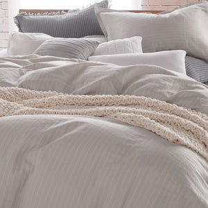 DKNY PURE Comfy Bedding Duvet Collection Platinum Grey