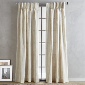 DKNY Classic Linen Inverted Pleat Curtain Panel Pair